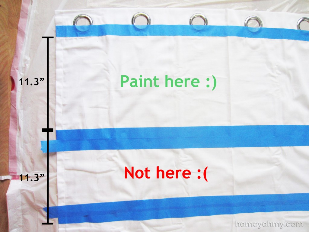 Curtains Taped Where to Paint