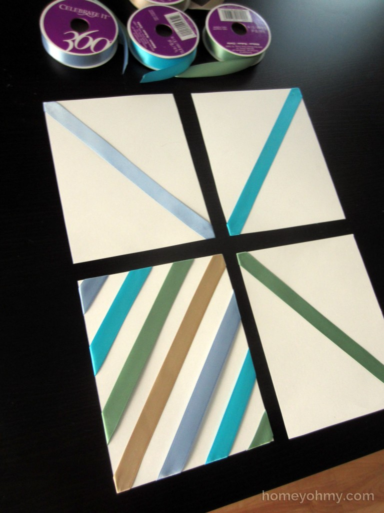 DIY Wall Art With Ribbon First Quadrant