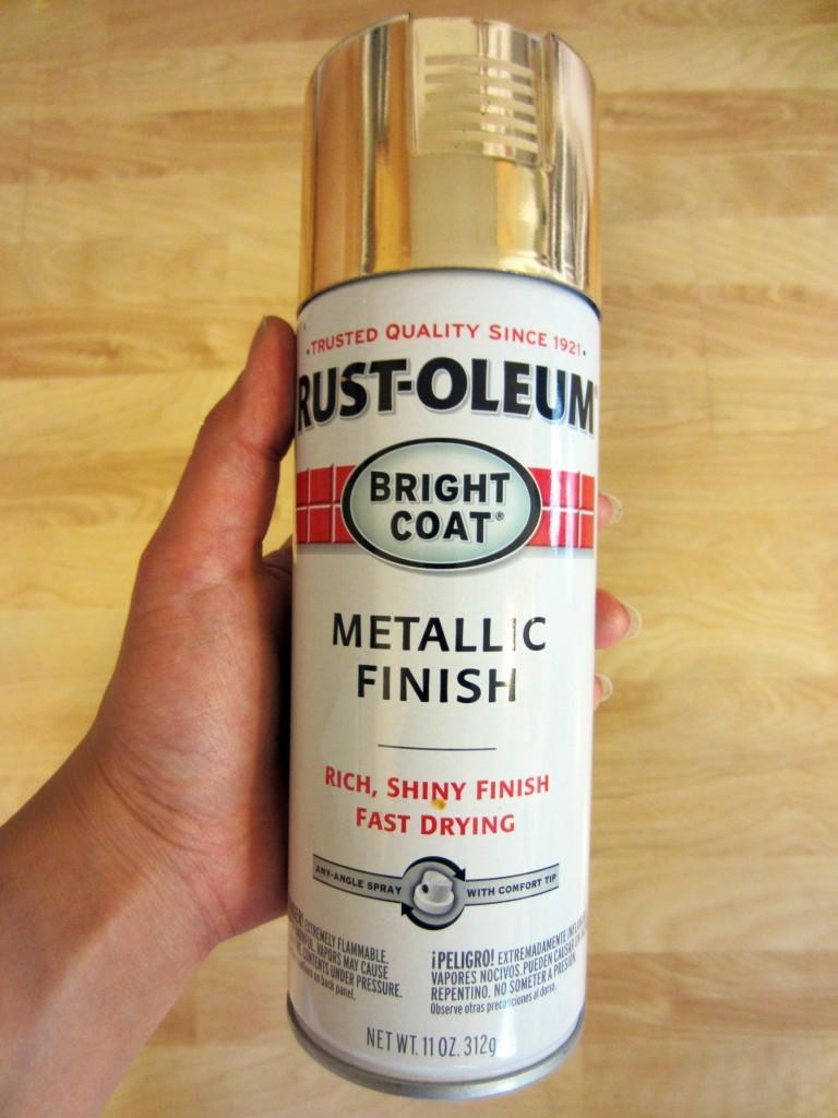 Rust-oleum Spray Paint in Gold