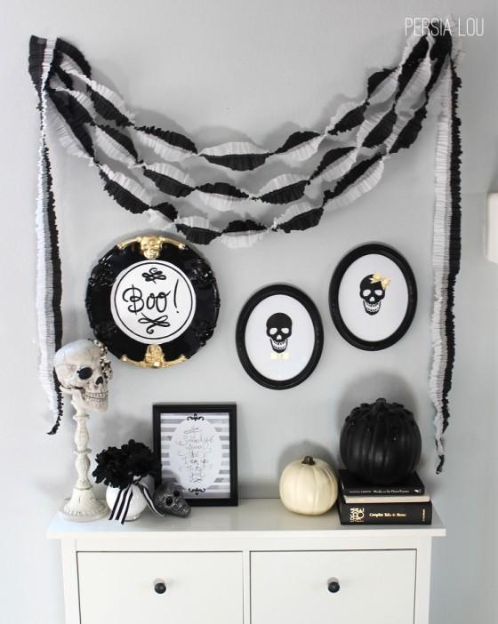 Black and White Mantel Persia Lou