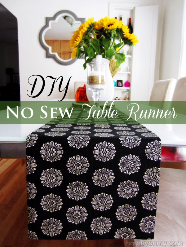 DIY No Sew Table Runner
