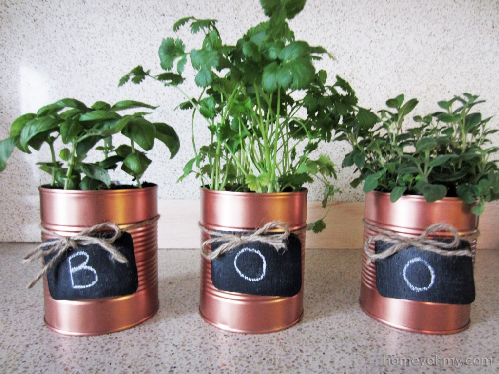 Tin Can Planters Boo