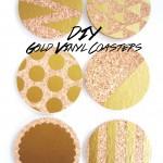 DIY Gold Vinyl Coasters
