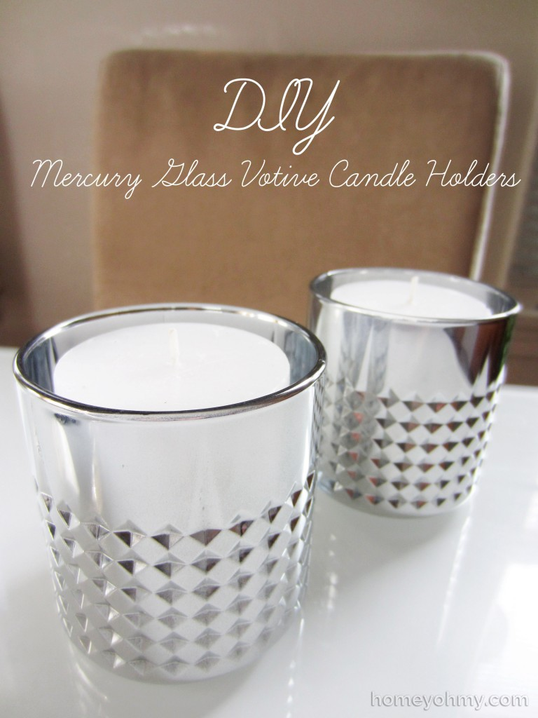 DIY mercury votive candle holders