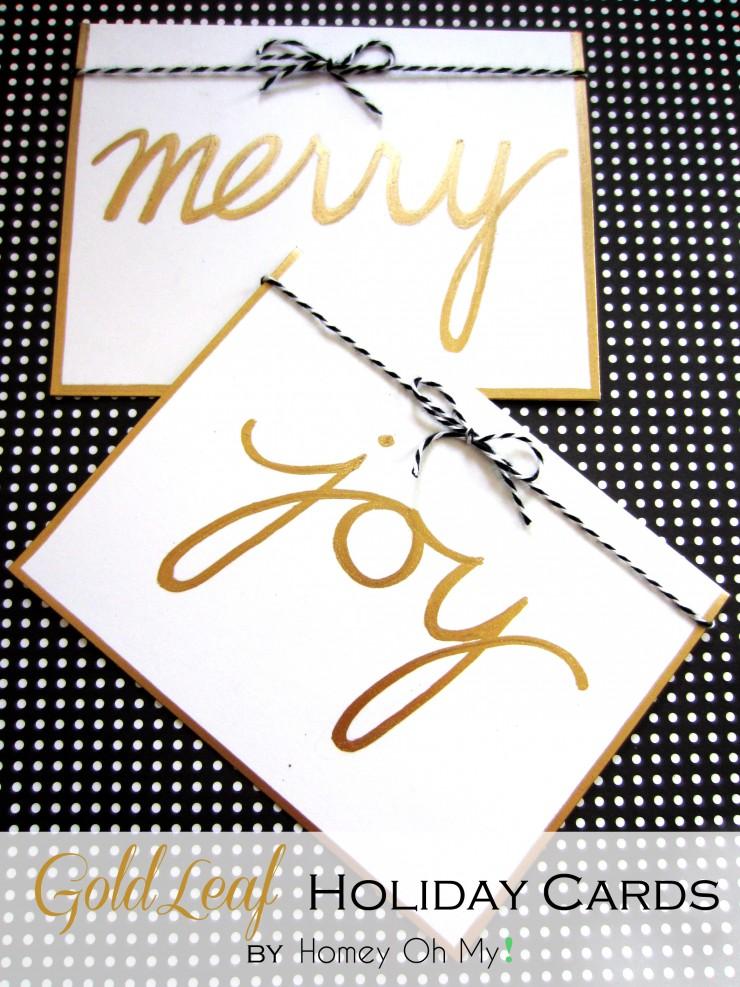 Gold Leaf Holiday Cards