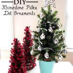 DIY Rhinestone Polka Dot Ornaments