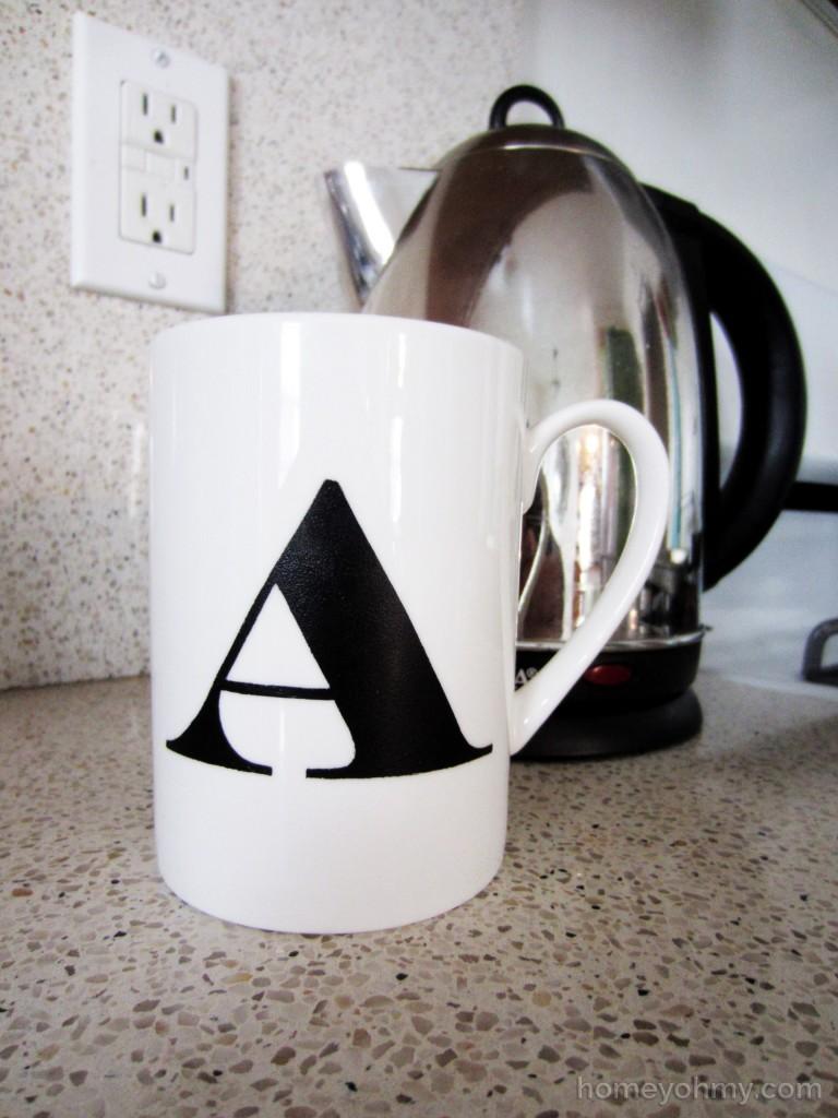 Monogrammed cup