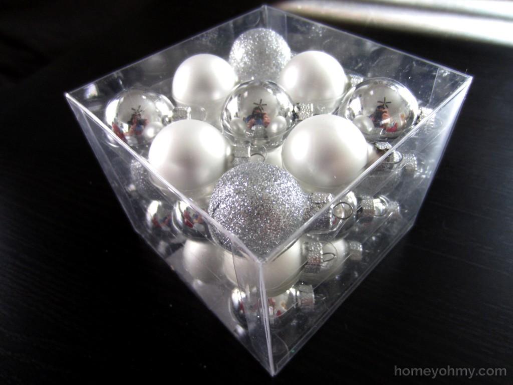 Silver mini ornaments