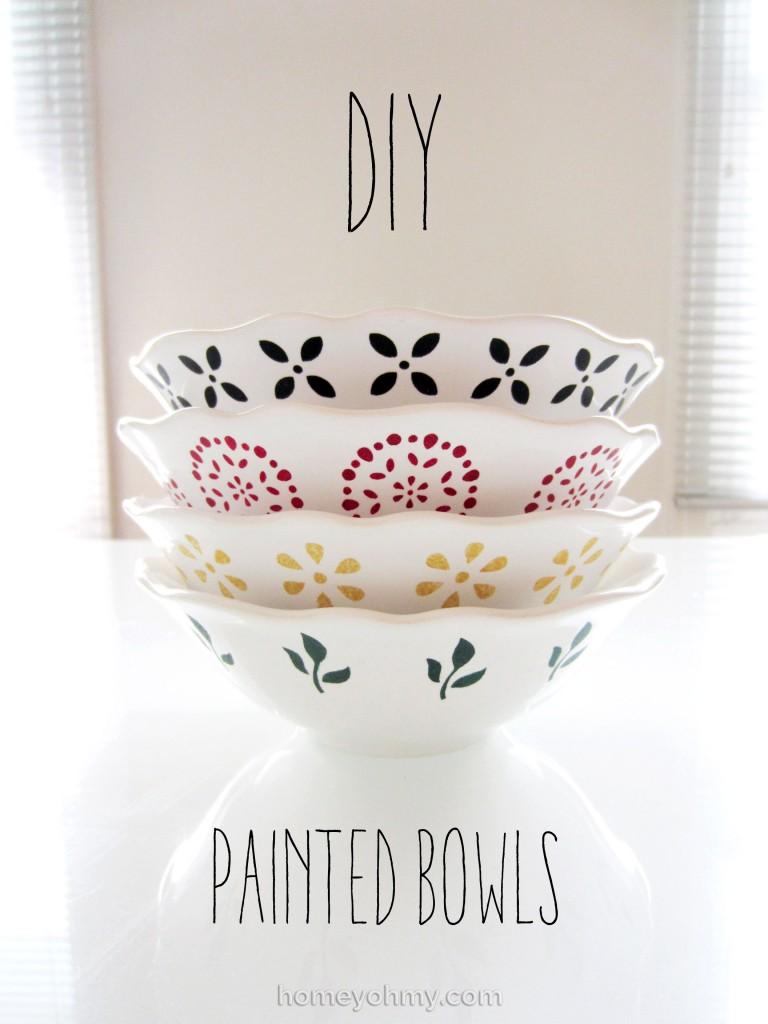 DIY Painted Bowls