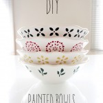 DIY Painted Bowls
