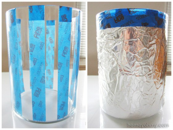 Tape and aluminum foil