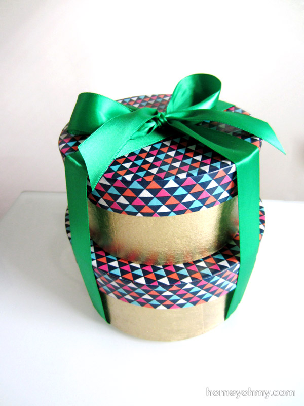 Washi tape boxes with bow