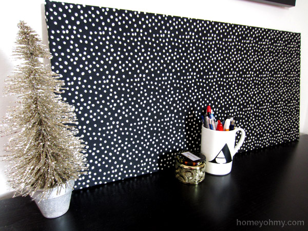 DIY Fabric covered magnet board