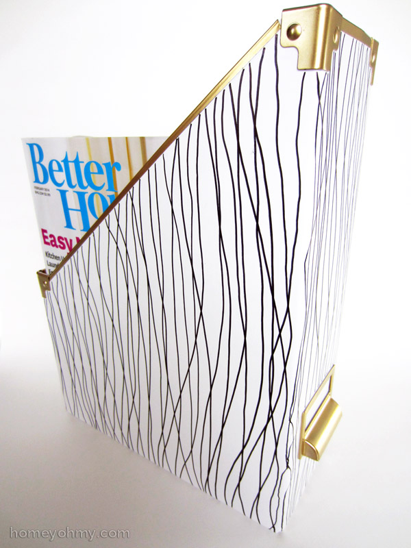 Customized IKEA Kasset magazine holder