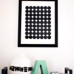 DIY Graphic Circle Wall Art