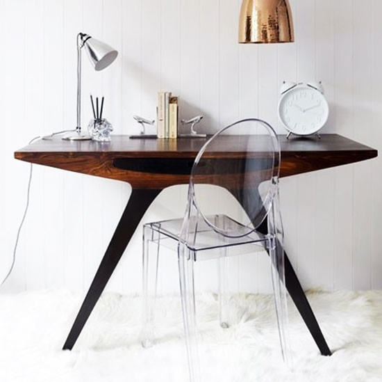 Ghost chair for desk