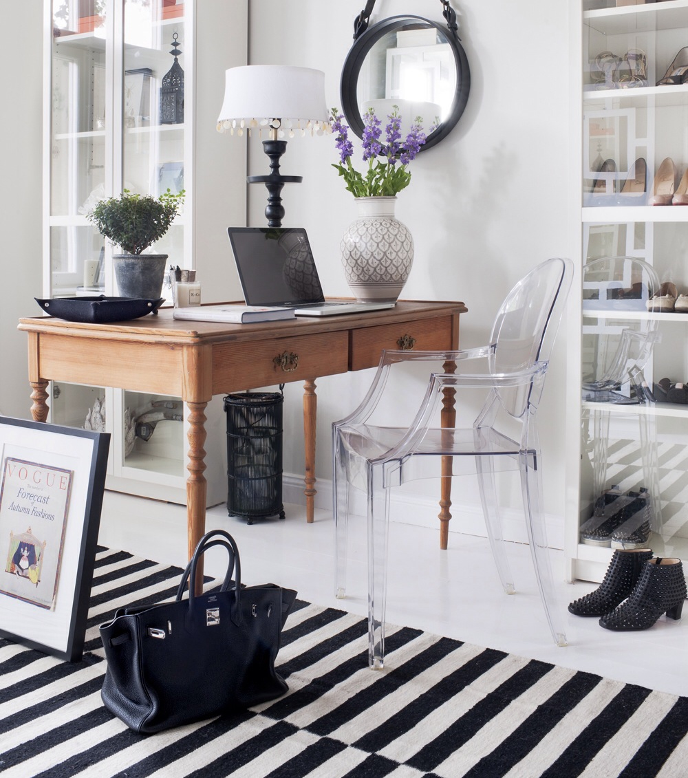 Ghost chair in a chic office space