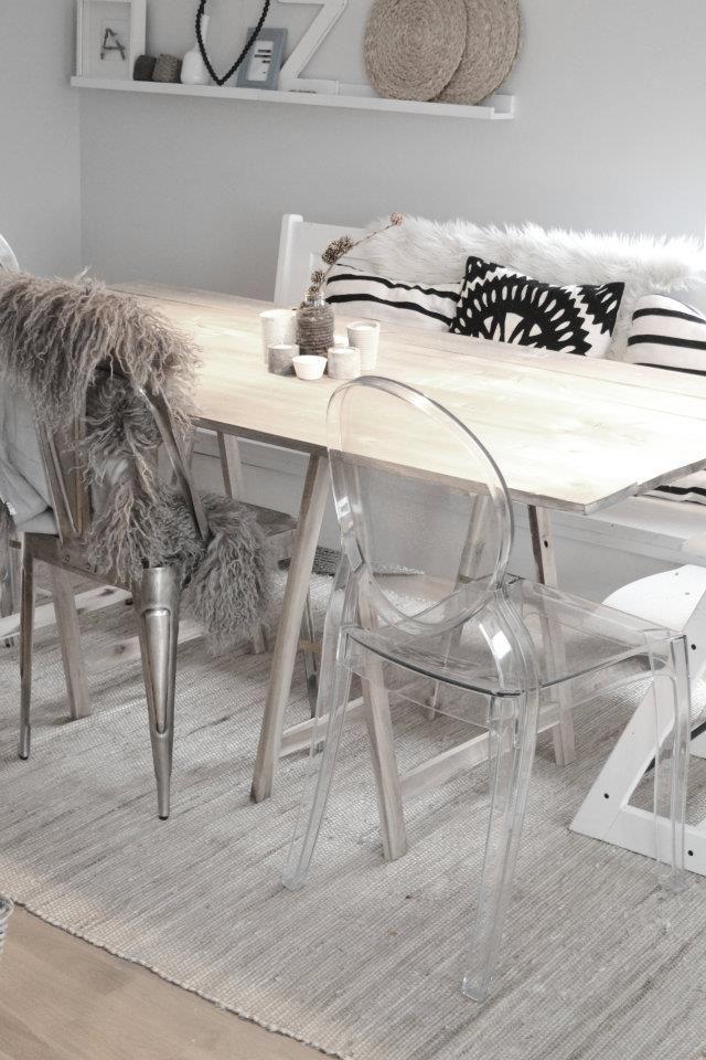 Ghost chair scandinavian style