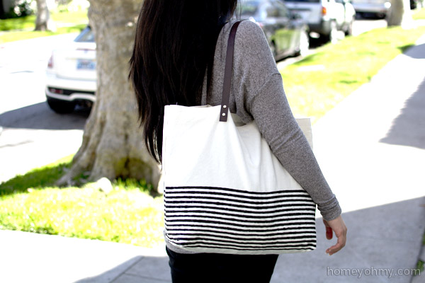 No Sew Canvas Tote Bag