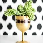 DIY Gold Goblet Planter