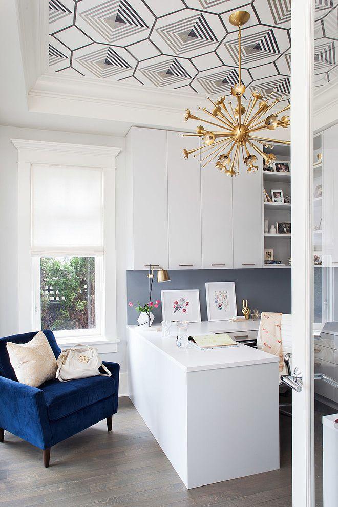 Blue velvet office chait