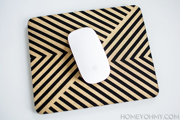 DIY gold mouse pad   Homey Oh My!