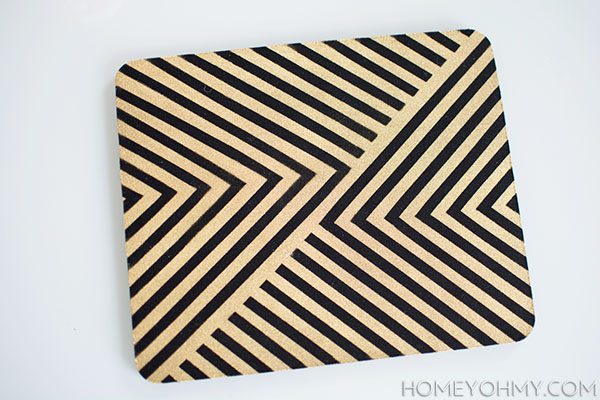 DIY old mouse pad   Homey Oh My!