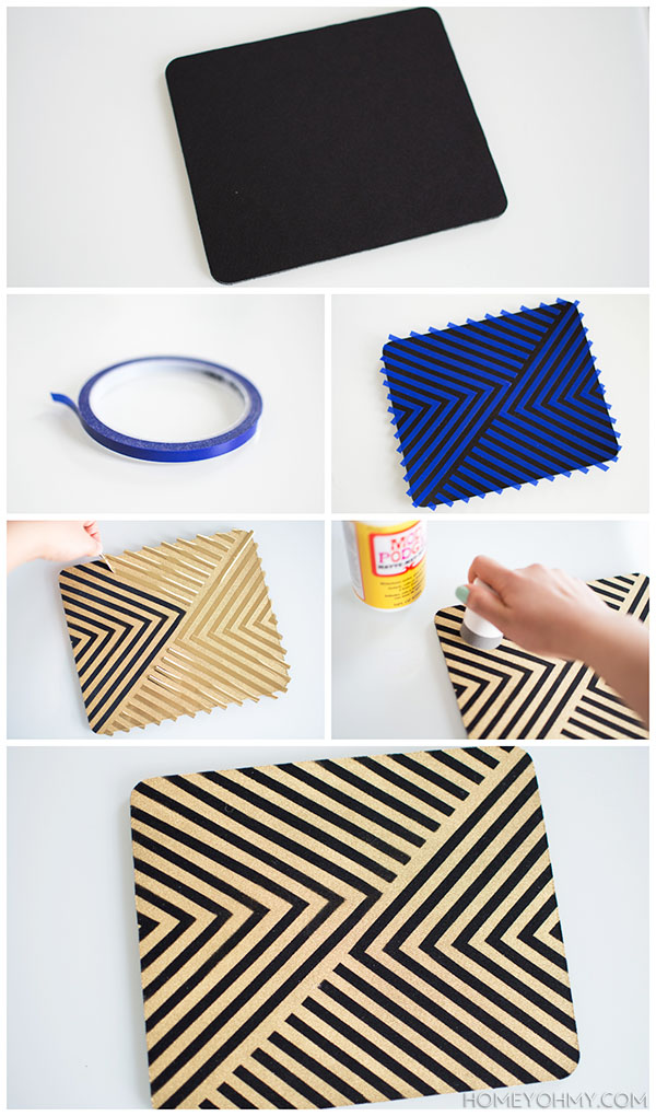 How to paint a mouse pad   Homey Oh My!
