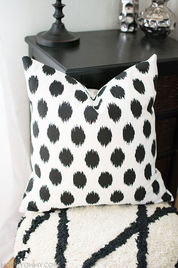 Ikat Polka Dot Pillow