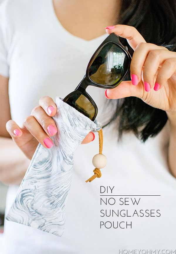 DIY No Sew Sunglasses Pouch