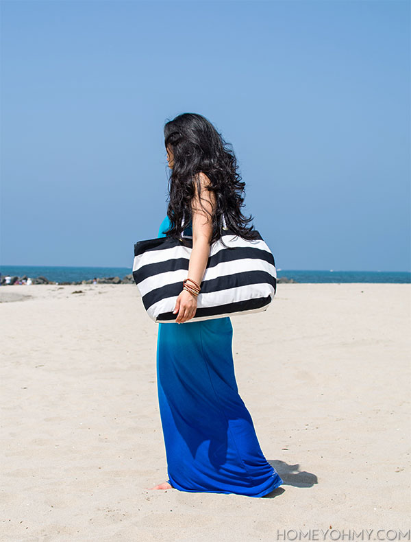 How to make a beach tote without sewing cropped