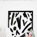 DIY Abstract Black and White Art