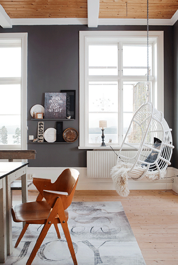 hanging chair Scandinavian style