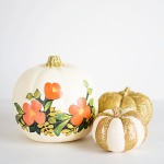 DIY Floral and Glitter Pumpkins