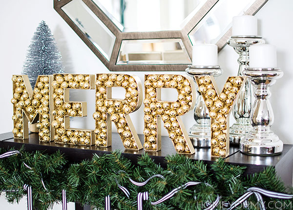 Gold Merry Letters