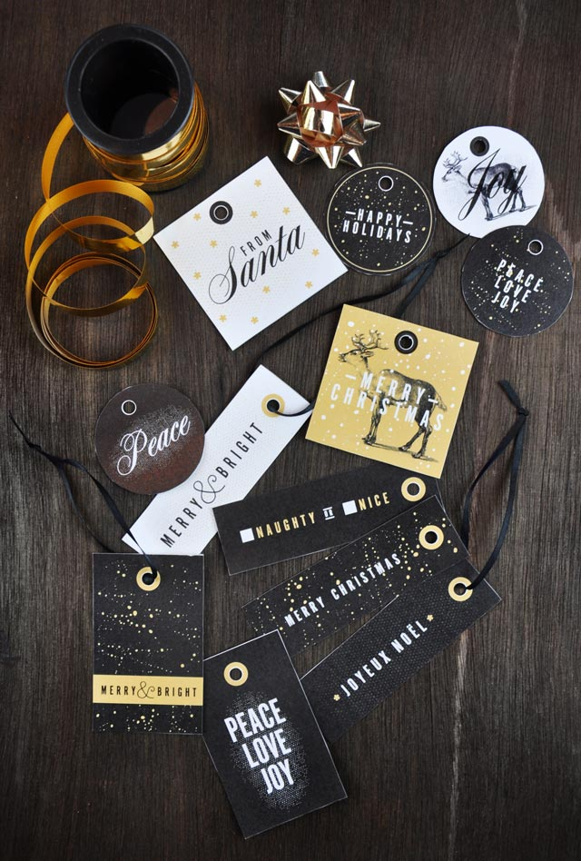 Christmas gift tags from Visual Heart