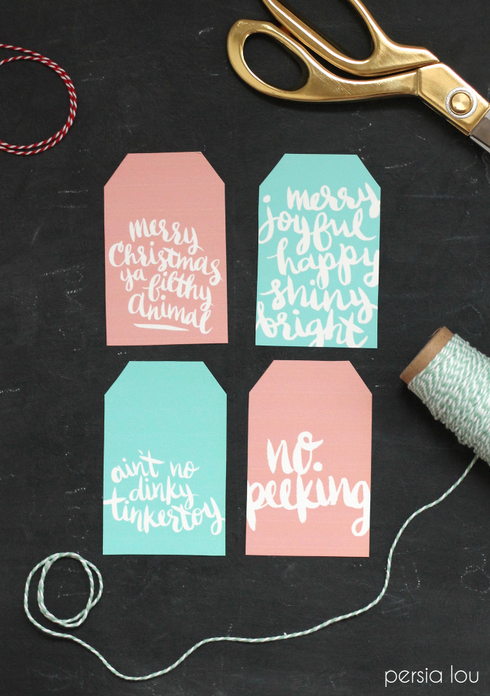 Hand-Lettered Gift Tags from Persia Lou
