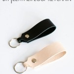 DIY Leather Loop Keychain