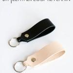 DIY Leather Loop Keychain