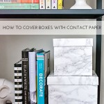 How to Cover Boxes with Contact Paper