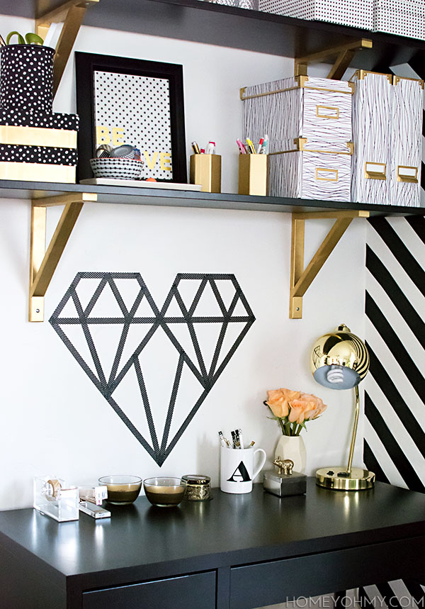 Washi Tape Geometric Heart