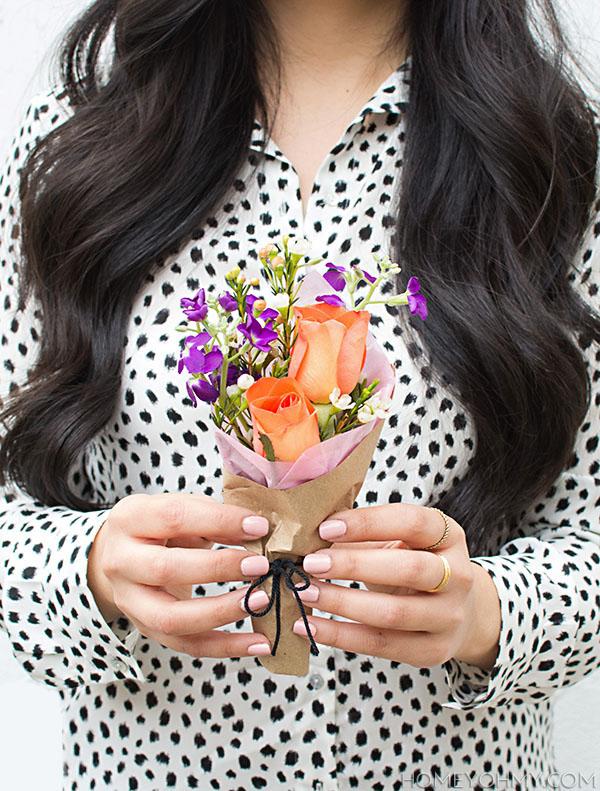 DIY Mini Flower Bouquet