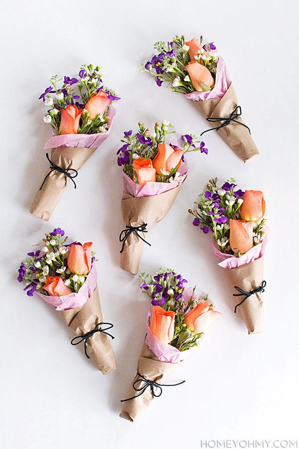 DIY Mini Flower Bouquets-2