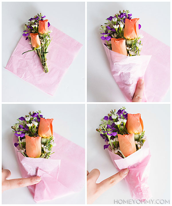 Tissue paper wrapping