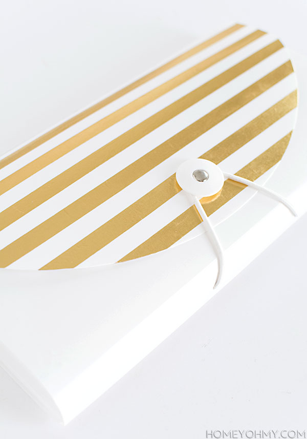 Gold Striped File Folder DIY