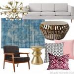 Mid-Century Modern Glam Living Room Inspiration