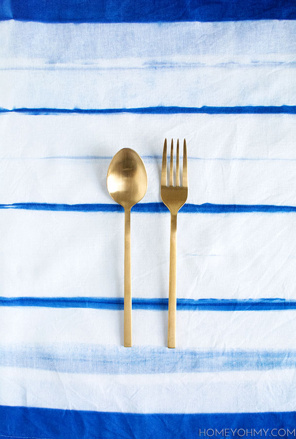 Striped Inkodye Napkin- DIY