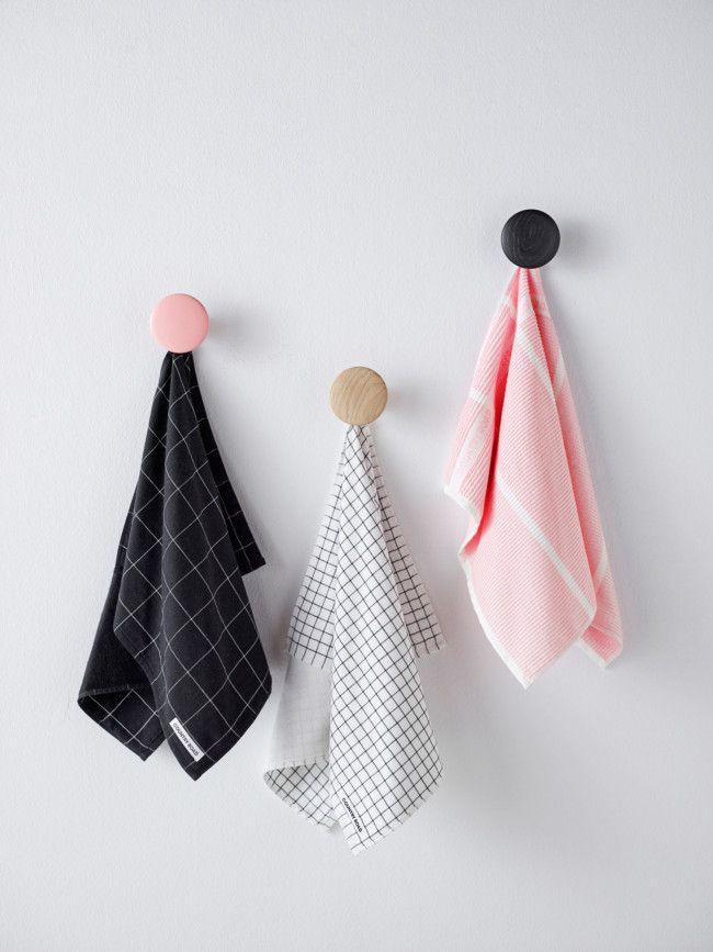 grid tea towels