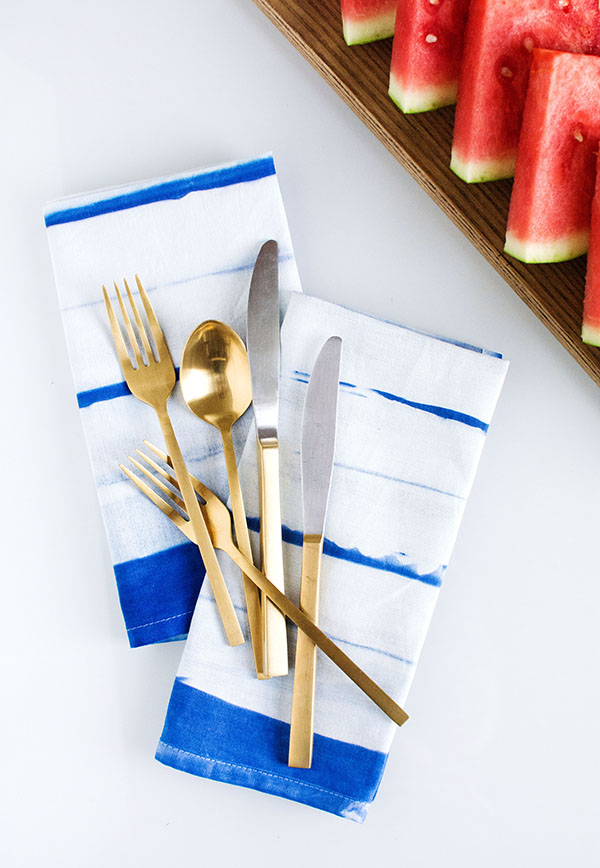 DIY- Striped Inkodye Napkins