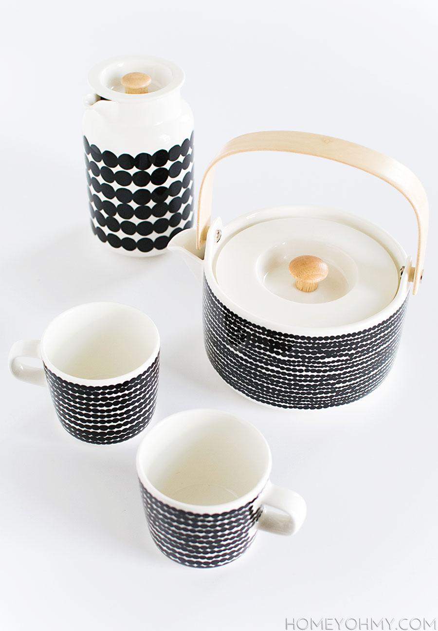 Marimekko Rasymatto- Tea Set